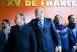 Jacques Brunel, sélectionneur du XV de France (à gauche), et Bernard Laporte, le 8 janvier à Marcoussis (Essonne)