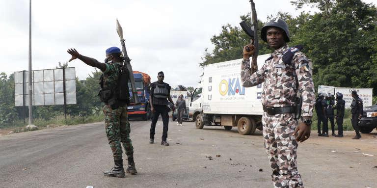 A Bouaké, le 23mai 2017, après des heurts entre forces de l'ordre et anciens rebelles.