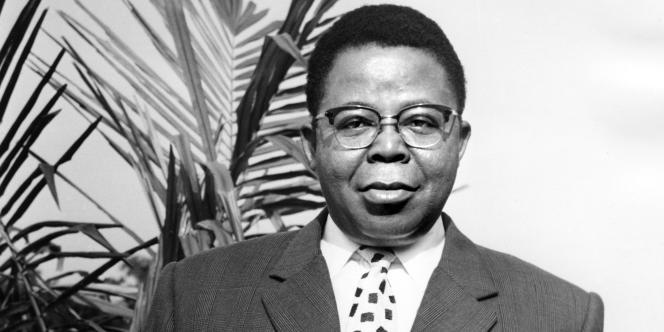 Joseph Kasa-Vubu, premier président de 1960 à 1965 de la République du Congo, aujourd'hui République démocratique du Congo (RDC).