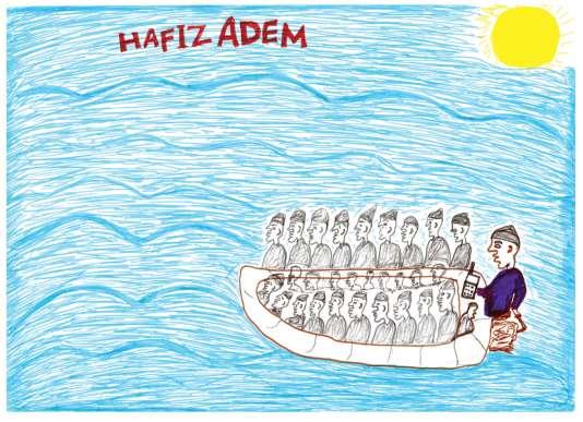 La traversée de la mer Méditerranée sur une embarcation de fortune.