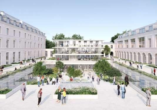 Le projet de jardin des Savoirs, dans la cour Gribeauval de l'hôtel de l'Artillerie, dans le 7earrondissement de Paris.