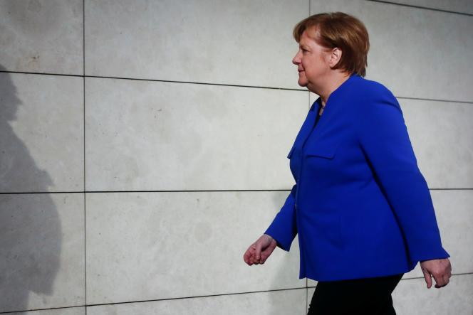 Angela Merkel, à Berlin, le 11 janvier.