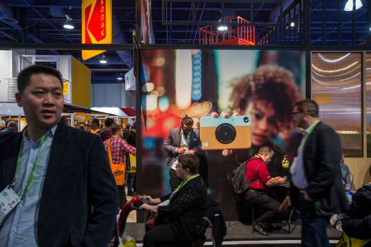 Le stand Kodak au CES de Las Vegas, le 10 janvier.