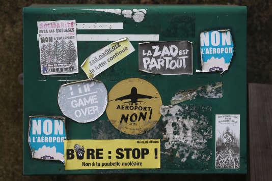 Une boîte aux lettres à Notre-Dame-des-Landes, le 9 janvier.