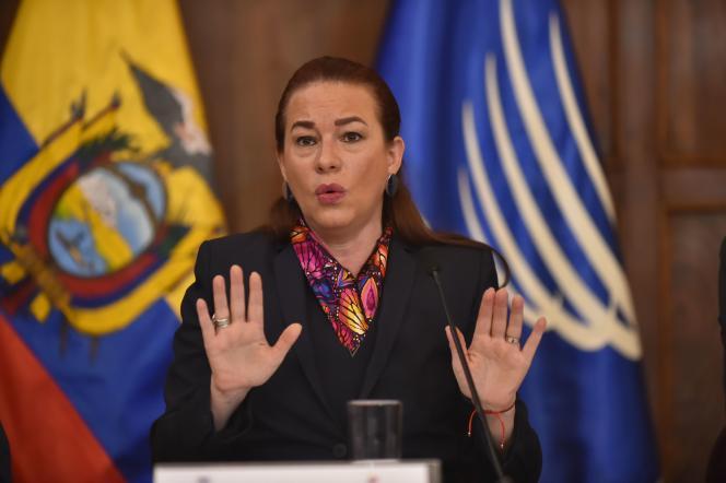 La ministre des affaires étrangères équatorienne, Maria Fernanda Espinosa, jeudi 11janvier.