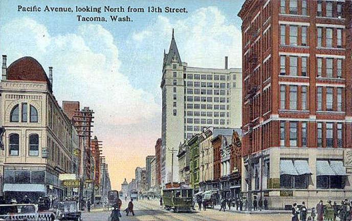 La ville de Tacoma dans l'Etat de Washington (Etats-Unis) au début du XXe siècle.