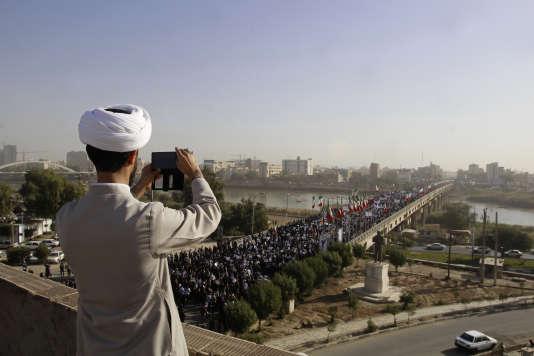 Manifestation de soutien au gouvernement iranien à Ahvaz, le 3 janvier.