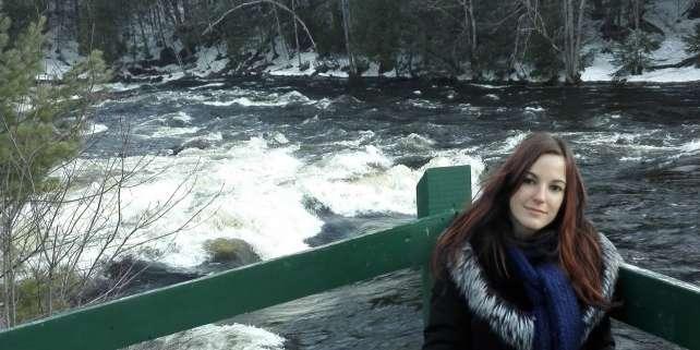 Lisa Inganni, lors de son séjour d'études au Québec.