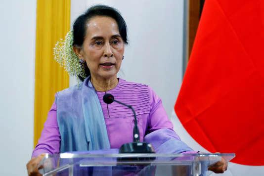 Aung San Suu Kyi le 12 janvier à Naypyidaw.