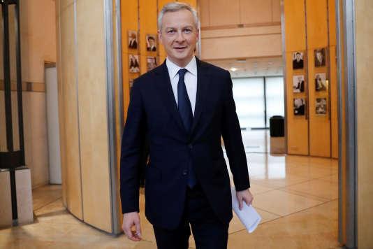 (Photo: Bruno Le Maire, le 12 janvier, au ministère des finances à Paris).