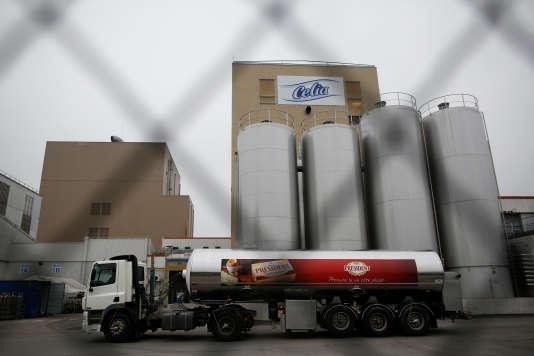L'usine Celia de Craon (Mayenne), qui produit du lait infantile pour Lactalis, le 12 janvier.