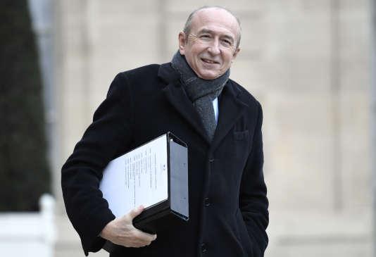 Le ministre de l'intérieur Gérard Collomb à l'Elysée le 12 janvier.