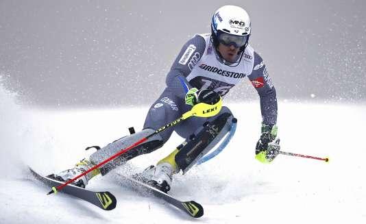 Victor Muffat-Jeandet, le 12 janvier à Wengen.