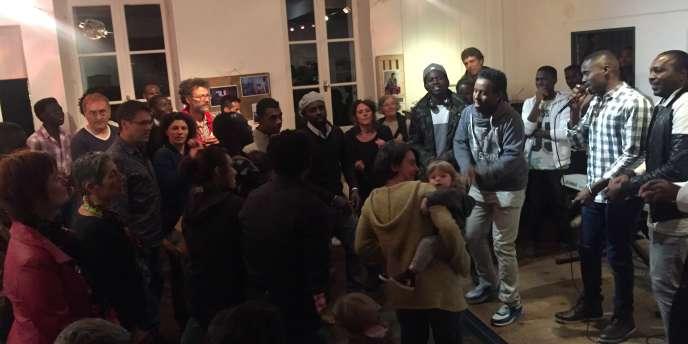 Les Soudan Célestins Music au café associatif Le Fabuleux Destin à Aubusson (Creuse), le 14 octobre 2017.