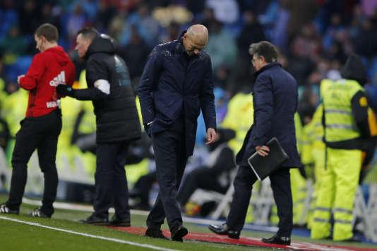 Zinedine Zidane, ici face à Villarreal le 13 janvier 2018, traverse sa première crise au Real Madrid.
