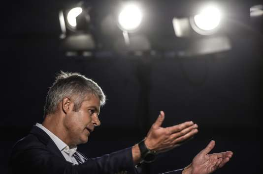 Laurent Wauquiez, en meeting à Les Etables (Ardèche ), le 3 septembre 2017.