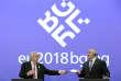 Le président de la Commission européenne, Jean-Claude Juncker (à gauche), et le premier ministre bulgare, Boïko Borissov, le 12 janvier à Sofia.
