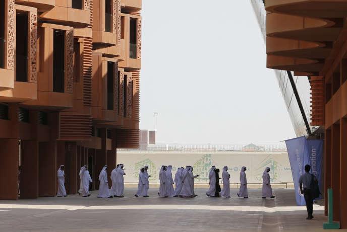 A Masdar, aux portes de la riche cité-Etat d'Abou Dhabi, en octobre 2015.