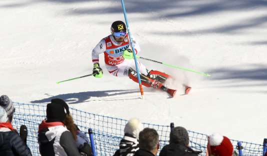 Marcel Hirscher en action.