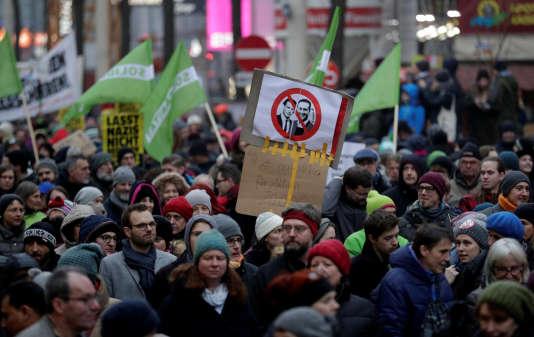 La manifestation du 13 janvier à Vienne était organisée à l'appel d'organisations de gauche et de la mouvance antiraciste.