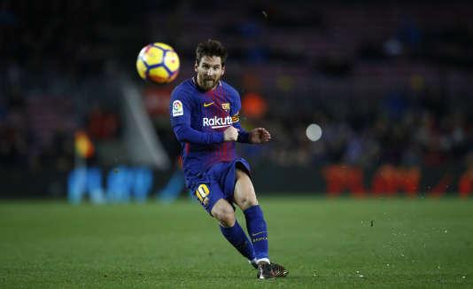Lionel Messi lors du match entre le FC Barcelona et Levante au stade du Camp Nou, à Barcelone, le 7 janvier.
