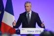 Bruno Le Maire, le ministre de l'économie et des finances, lors de ses vœuxà la presse, lundi 15 janvier, à Bercy.