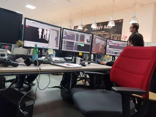 Les locaux du studio Quantic Dream, dans le 20earrondissement de Paris.
