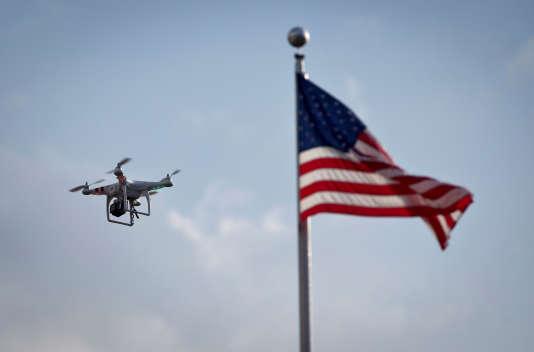 Un drone au-dessus de Coney Island en août 2013.