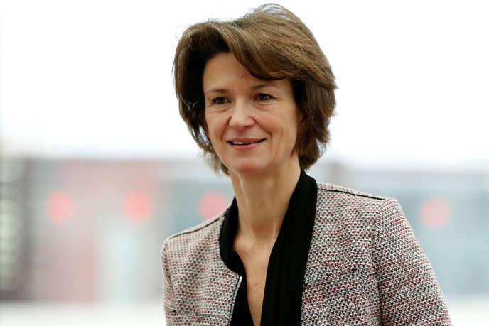 Isabelle Kocher, directrice générale d'Engie, le 15 janvier, à Paris.