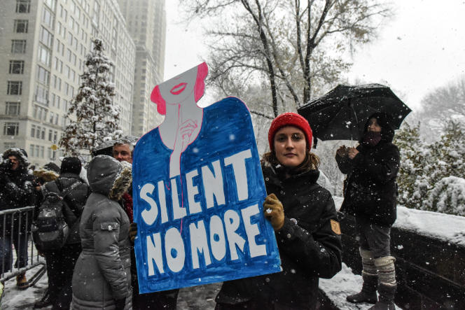 Manifestation contre les violences faites aux femmes à New York début décembre 2017.