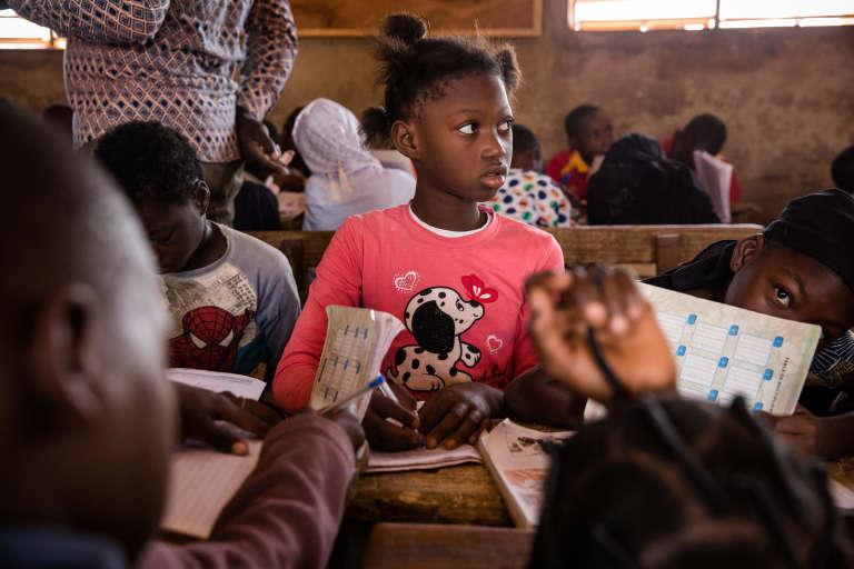 Dans la classe de l'école Kua C de Bobo-Dioulasso.