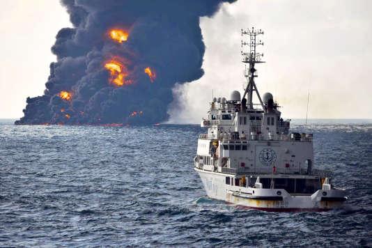 Le navire iranien a fait naufrage dans la mer de Chine méridionale, dimanche 14 janvier.