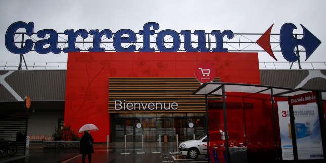 Un magasin Carrefour à Carquefou (Loire-Atlantique), le 15 janvier.