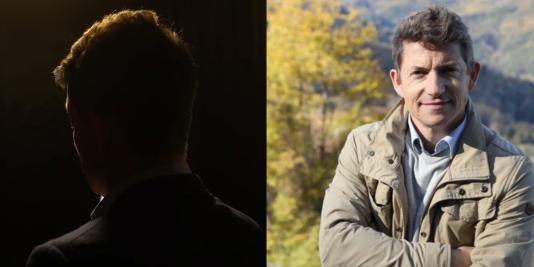 A gauche, l'image du témoin décrit comme «membre de l'équipe de Delphine Ernotte» par la vidéo diffusée par David Rachline. A droite, Christophe Boucher.