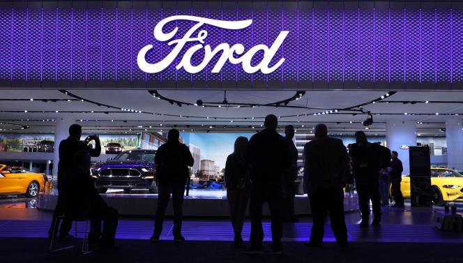 Stand Ford, le 15 janvier, au Salon automobile international de Detroit.
