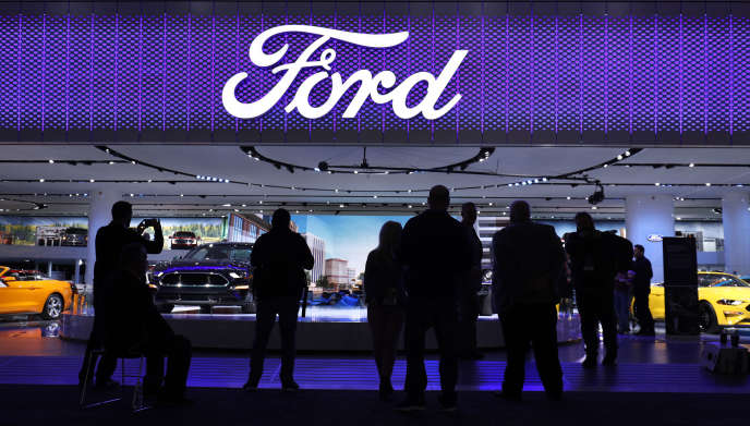 Stand Ford, le 15 janvier, au Salon automobile international de Detroit.