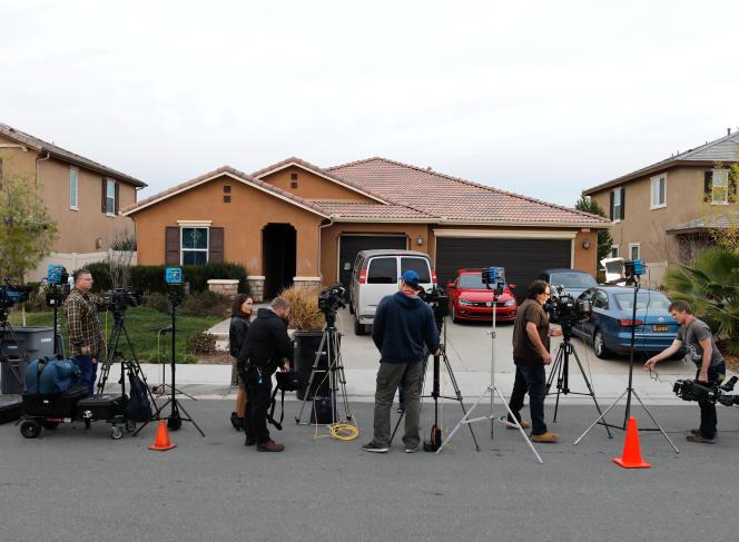 La maison du couple qui séquestrait 13enfants et adultes à son domicile de Perris, près de Los Angeles, le 15janvier.