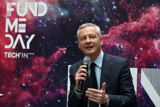 Bruno Le Maire, le ministre des finances, lors du «Fund me Day», une journée consacrée au financement et au développement des start-up du numérique,à Paris, le 20 novembre 2017.