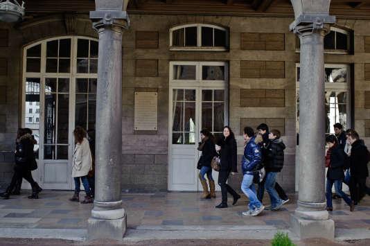 Au lycée du Parc à Lyon, réputé pour ses classes préparatoires aux grandes écoles.