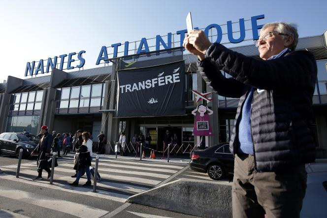 L'aéroport Nantes Atlantique, à Bouguenais (Pays de la Loire), le 14 octobre 2017.