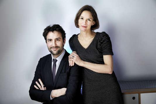 Arthur et Audrey Kermalvezen à Levallois-Perret (Hauts-de-Seine), le 15 janvier.