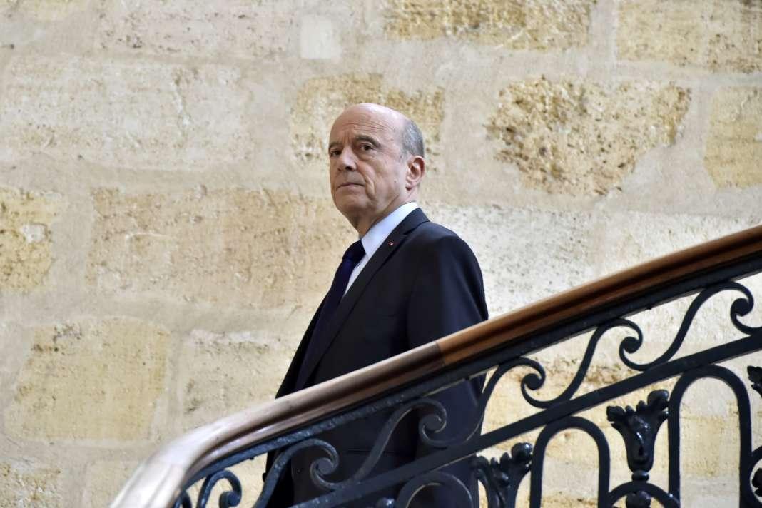 Alain Juppé, ) Bordeaux, le 6 mars 2017.