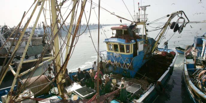 Le port de Laâyoune, au Sahara occidental, en 2005.