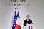 Emmanuel Macron s'est rendu à Calais, le 16 janvier.