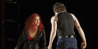 Carmen, ici jouée par Kate Aldrich, à l'Opéra de Lyon en 2015.