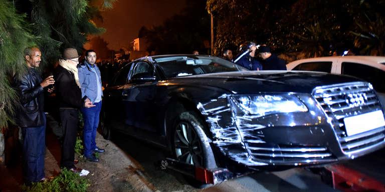 La scène du crime le 7 mars 2017, à Casablanca, au Maroc.