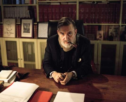 François Sureau, le 11janvier 2018, dans son bureau boulevard Raspail, à Paris.