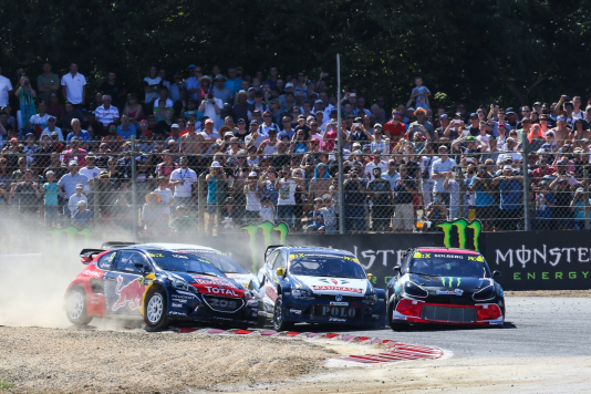 Neuvième étape du Championnat du monde 2017 de Rallycross (WRX) à Lohéac, en Bretagne, le 1er septembre.