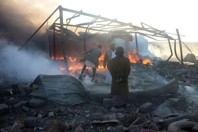 Après des frappes aériennes, à Saada (Yémen), le 6 janvier.