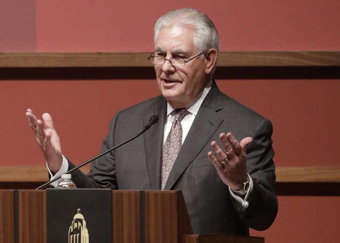 Le chef de la diplomatie américaine, Rex Tillerson, lors d'une conférence sur la Syrie à l'université Stanford en Californie, le 17 janvier.
